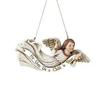 For Unto Us a Child Angel Ornament