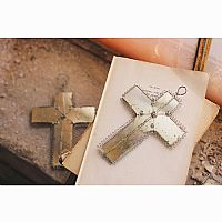 Mercury Glass Cross Ornament