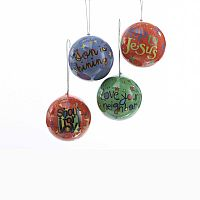 Decoupage Ball Ornaments