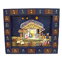 25 Piece Wooden Advent Calendar