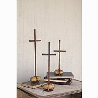 Scrap Metal Crosses (Set of 3)