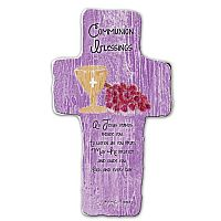 Communion Blessings Cross Plaque