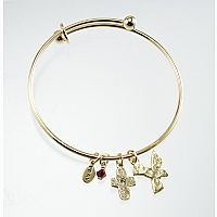 Confirmation Gold Adjustable Bangle