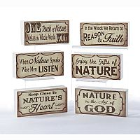 Wooden Nature Block Tablepiece
