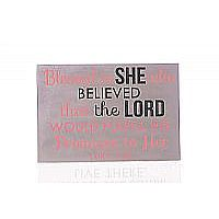 Blessed is She Plaque