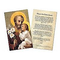 Prayer for Fatherhood Holy Card