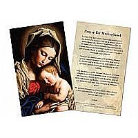 Prayer for Motherhood Holy Card