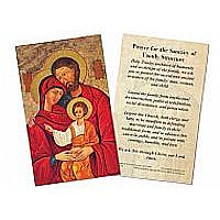 Prayer for the Sanctity of the Family Structure Holy Card
