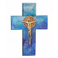 Universal Christ Cross with Bronze Corpus