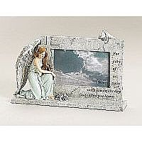 Kneeling Angel Memorial Frame