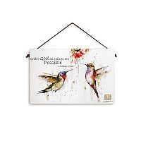 Hummingbird Wall Plaque