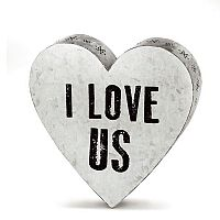 I Love Us Metal Wall Art