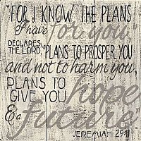 Jeremiah 29:11 Wood Plaque
