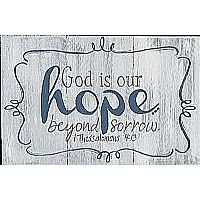 Hope Beyond Sorrow Wood Plaque