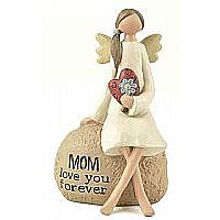 Mom Angel with Flowers