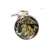 O Holy Night Glass Ornament