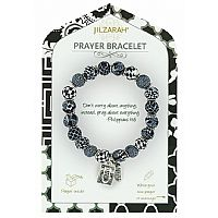 Black and White Prayer Bracelet