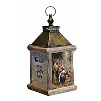 Holy Night Fiber Optic Lantern