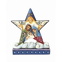 Nativity Star on Cloud Ornament