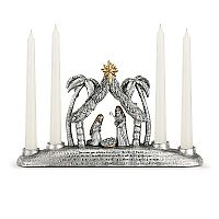 Nativity Taper Candle Holder Centerpiece