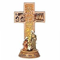 Holy Family Cross Figurine