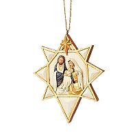 Black and Gold Nativity Ornament