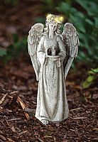 Standing Angel with Solar LED