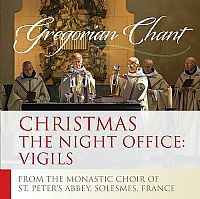 Christmas The Night Office: Vigils Gregorian Chant CD