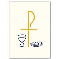 Cross Chi Rho with Chalice and Loaves