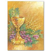 Chalice with Grapes and Wheat