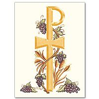 Chi Rho with Grapes and Wheat