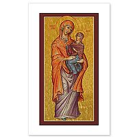 St. Anne Icon Holy Card
