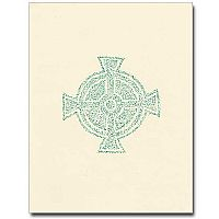 Green Small Celtic Cross Notes