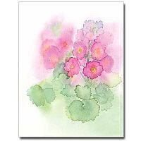 Watercolor Geranium Petite Notes