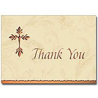 Tree of Life Cross Deluxe Thank You Notes (Copper)