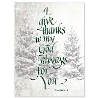 I Give Thanks to My God for You