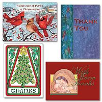 Thank You Note Christmas Assortment