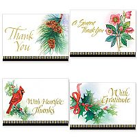 Traditional Christmas Thank You Notes