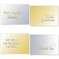Silver and Gold Thank You Note Assortment