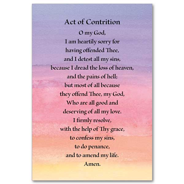 image about Act of Contrition Prayer Printable known as Act of Contrition: Mini Print