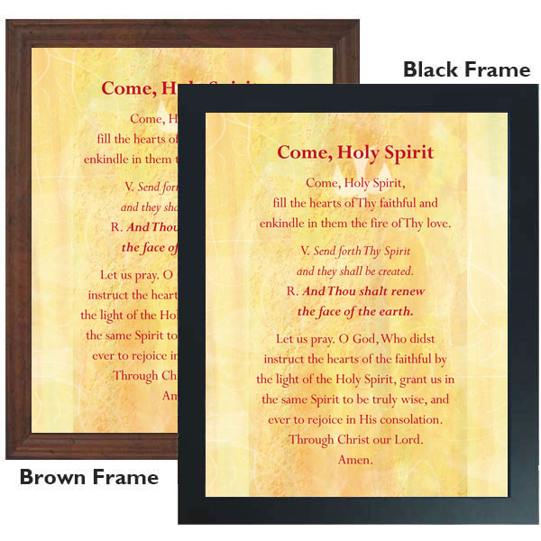 picture regarding Come Holy Spirit Prayer Printable called Occur Holy Spirit: 11 x 14 Framed Print