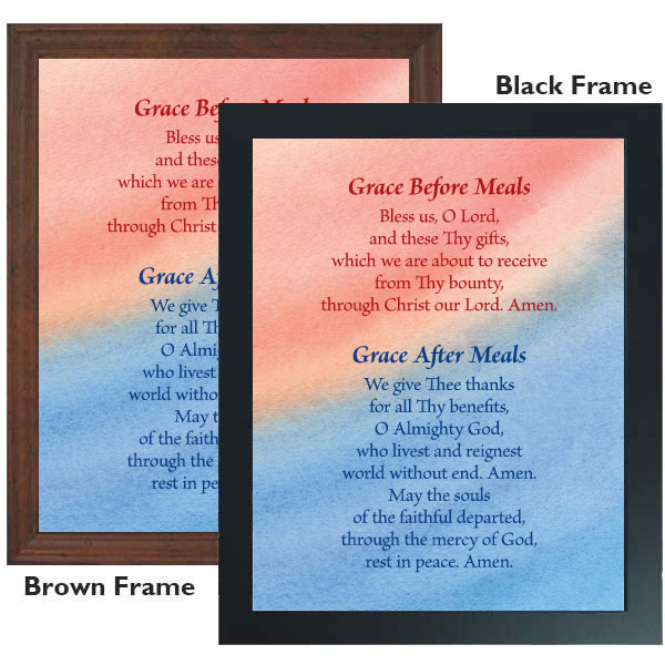 Grace Before And After Meals 11 X 14 Framed Print