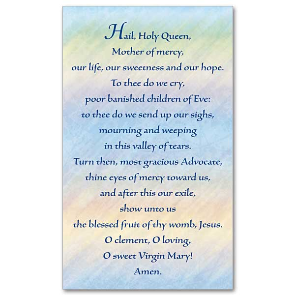 Inventive image in hail holy queen prayer printable