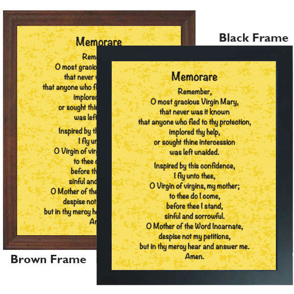 photo relating to Memorare Prayer Printable referred to as Memorare: 11 x 14 Framed Print
