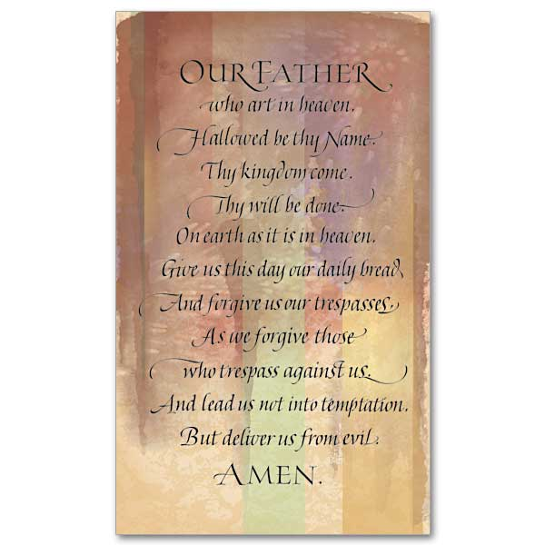 our father prayer cards the printery house