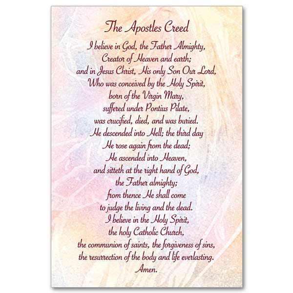 It is a photo of Nifty Printable Apostles Creed