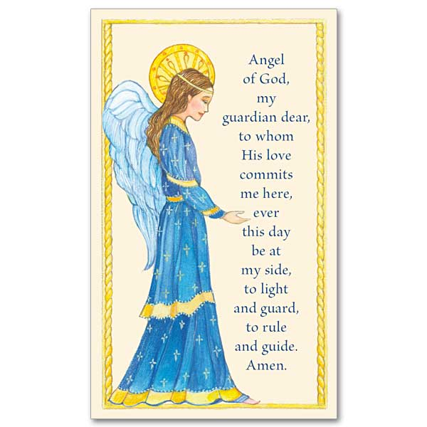 Clever image within guardian angel prayer printable