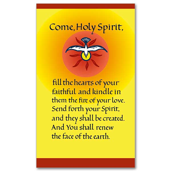 Come, Holy Spirit: Prayer Card