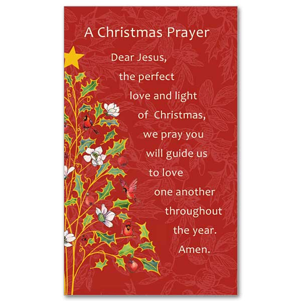 A Christmas Prayer.Guide Us To Love One Another Christmas Prayer Card