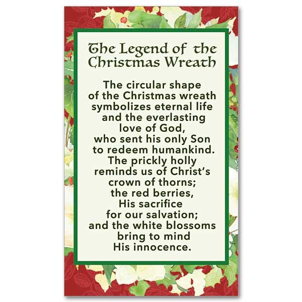 The Legend of the Christmas Wreath: Christmas Prayer Card